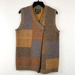 Woolrich multicolor patchwork sweater vest, small